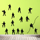 Army Men Wall Stickers Mural Soldier Adhesive Decal C Art Military Marines S A01