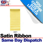 3mm 6mm DOUBLE SIDED SATIN RIBBON - MARIGOLD  - 5m 10m 25m Metres - SM271