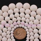 6-20mm Round Sponge White Coral Gemstone For DIY Jewelry Making Beads Strand 15""