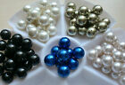 10pcs x 24mm Faux Pearl Beads Large Size In 7 Colours for Craft Jewellery Making