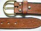 LEATHER  BELT AUSTRALIAN ICON DETAIL GENUINE EMBOSSED AUSTRALIAN MADE