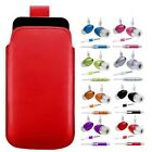M- RED PULL TAB POUCH CASE COVER + HANDS FREE HEADSET fOr Samsung Monte GT-S5620