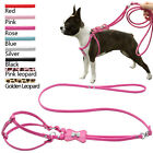 Step In Bone Rhinestone PU Leather Pet Dog Harness&Leash Set for Dogs Pets S M L
