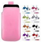 L- BABY PINK PULL TAB POUCH CASE COVER + HANDS FREE HEADSET fOr Nokia N97 Mini