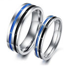 Blue and black dreamful Titanium Steel Promise Ring Love Couple gifts J39