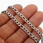 5MM MENS Chain Boys Silver Tone Figaro Style Stainless Steel Necklace16-36inch