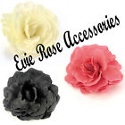 """NEW LARGE 18CM / 7"""" ROSE FLOWER  HAIR CORSAGE FASCINATOR COMB CLIP BROOCH PIN"""