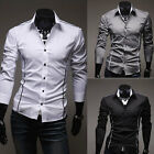 Brand New Mens Luxury Casual Slim Fit Stylish Dress Shirts 3Colors 4 Size FF0749