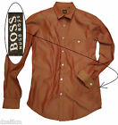 NWT Hugo Boss Black Label Cotton Slim Fit Sport Shirt in Red