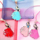 Disney Princess Snow White Enamel Charm Pendant on soft Cotton Necklace in Bag