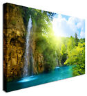 Large Picture Of Waterfall Croatia Rays Canvas Wall Art Print