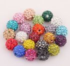 Lots 10Pcs Rhinestone Crystal Ball Disco Beads Loose Spacer Beads Findings 10mm
