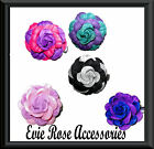 New Two tone Pin up 5cm Felt Rose Flower Corsage Hair Clip Rockabilly Kitsch