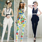 Elegant Women Summer Casual PLAYSUIT High waist JUMPSUIT Harem Pants Vest Tops