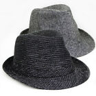 Fashion Men women's Fedora/Trilby hats winter hat Wool Cotton hat Black gray Cap