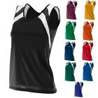 10 COLORS! LADIES MOISTURE CONTROL, COLORBLOCK, SLEEVELESS TANK TOP, S M L XL 2X