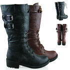 Military Boots Womens Lace Up Army Combat Boots Shoes Ladies Biker Boots Sz 3- 8