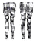Y64 NEW WOMENS LADIES ANIMAL DOGTOOTH  PRINT FULL FUNKY LENGTH LEGGINGS IN 08-14