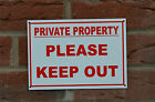 Private Property Please Keep Out Warning Access Home Land Sign Sticker Holed A5
