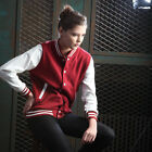 ililily New Slim-fit Baseball Jackets Double-layer Cotton Stretchy two-tone 026
