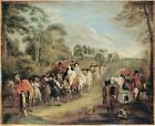 Soldiers March Watteau Jean Antoine 18th Century-Art Photo/Poster Repro Print