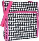Beautiful Houndstooth Trimmed Versatile Reusable  Tote - FREE SHIPPING