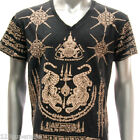 w20b M L XL Japanese Irezumi Tattoo VNECK T-shirt Tiger SUA Magic Symbol Hip Hop