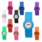 Hot Style Slap on Rubber/Silicone Sport Wrist Bracelet Watch