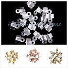 Wholesale 500PCS DIY Crimp Bead Cap Fold Over End Cord Findings  Free shipping