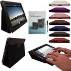BLACK / PURPLE LEATHER FLIP CASE COVER TYPING STAND FOR THE NEW APPLE IPAD 4