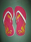 NWT Girl's Under Armour Flip Flops Pink / White or Purple / White Size Y 3 & 4