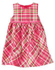 NWT GYMBOREE CHEERY ALL THE WAY DRESS Size 6 12 18 24 m 2T 3T Pink Plaid Holiday