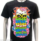 dd7b Sz M L DD T-shirt Tattoo Demon Monster Fancy Skate Surf Punk Graphic Men