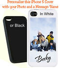 Personalised iPhone 5 Mobile Protective Phone Case - Add your Photo & Name free