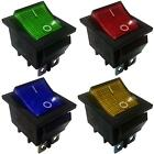 DPDT On-On Latching 6 Pins 2 Circuits Rocker Switch 15A 250VAC colour/Light.