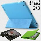 UK Stock Magnetic PU Stand Leather Smart Cover Case For iPad 2/3 New iPad 4