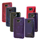 5 COLOUR TRANSPARENT SOFT RUBBER PHONE CASE COVER FOR SAMSUNG GALAXY S2 I9100