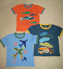 New Mini Boden Multi Logo Tshirt Top 2-14 years cars planes sharks applique