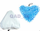 White Cloth or BLUE CORAL STEAM Cleaning Pads H2O H20 Mop Replacement Floor Tile usato  Regno Unito