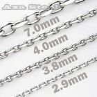 """2.9MM-7MM 18""""~30"""" MENS 316L Stainless Steel Twist O Chain Necklace SN#788"""