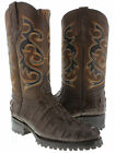 mens crocodile alligator tail cut western cowboy boots