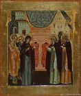 Photo Print  Icon Appearance Of The Virgin To St Sergius The Vision Of St Sergiu