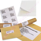 A4 SHEETS OF PLAIN WHITE ADDRESS LABELS 2 PER PAGE CHEAP OFFER *SELECT QTY*