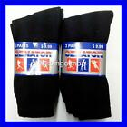 Lot of 3 or 6 Pairs New Cotton Women's Athletic Sports Crew Socks 9-11 Black