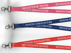 5 x REGISTERED NURSE Neck Strap Safety Lanyards- 3 Colours Available FREE UK P&P