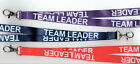 1x TEAM LEADER Neck Strap Safety Lanyards - 3 Colours Available FREE UK P&P