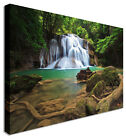 Large Picture Waterfall Forest Oasis Canvas Art Cheap Print