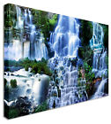 Large Picture Waterfall 7 Seas Mix Canvas Art Cheap Print
