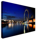 Large Picture London City Night Lights Canvas Art Cheap Print