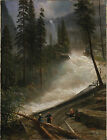 Art Photo Print - Mountain Scene F - Albert Bierstadt 1830 1902